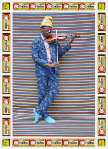 hassan-hajjaj-mr-m-toliver-2013-metallic-lambda-print-on-dibond-with-wood-and-found-objects-34-5-x-25-in-courtesy-of-the-artist-and-gusford-los-angeles
